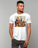 Oxford Spires contemporary mens white t-shirt