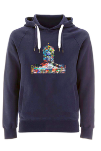 Queens College Oxford Navy Hoodie