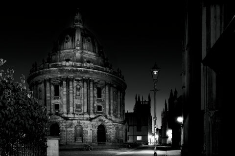 B&W photography of Oxford Radcliffe Camera
