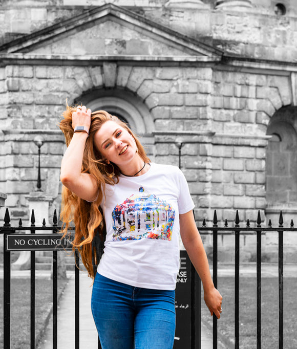 Oxford Avant garde white t-shirt with Radcliffe Camera