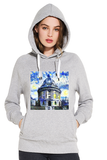 Radcliffe Camera Oxford organic cotton ladies grey hoodie with art design