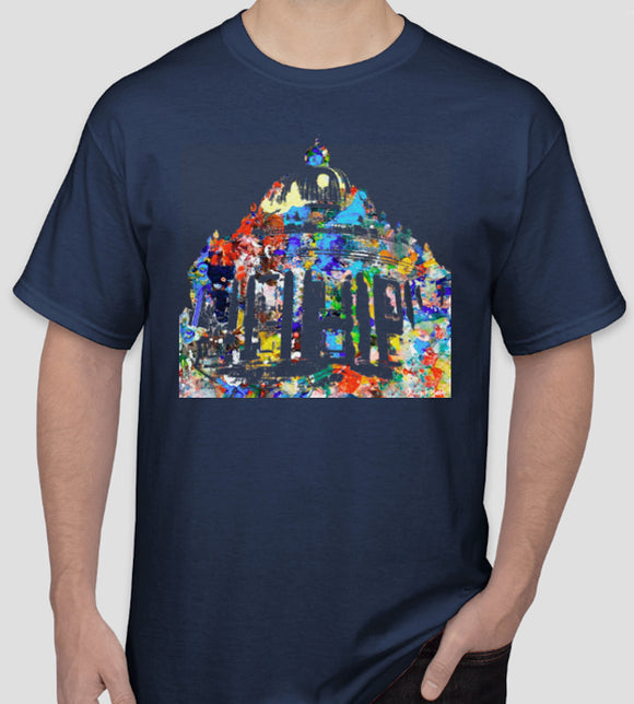 Radcliffe Camera Oxford University navy t-shirt, ideal graduation gift or souvenir
