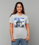 Radcliffe Camera Oxford University Ladies grey organic cotton t-shirt with art design