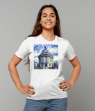 Radcliffe Camera Oxford University Ladies white organic cotton t-shirt with art design