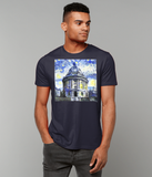 Radcliffe Camera Oxford University Men's navy organic cotton t-shirt with art design
