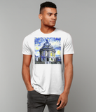 Radcliffe Camera Oxford University Men's white organic cotton t-shirt with art design