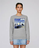 Sheldonian Spires of Oxford University Women's grey organic cotton sweatshirt with art design