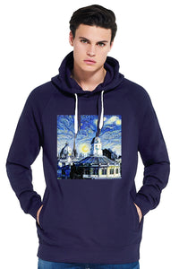 Sheldonian Oxford University Men's navy organic cotton hoodies with art design
