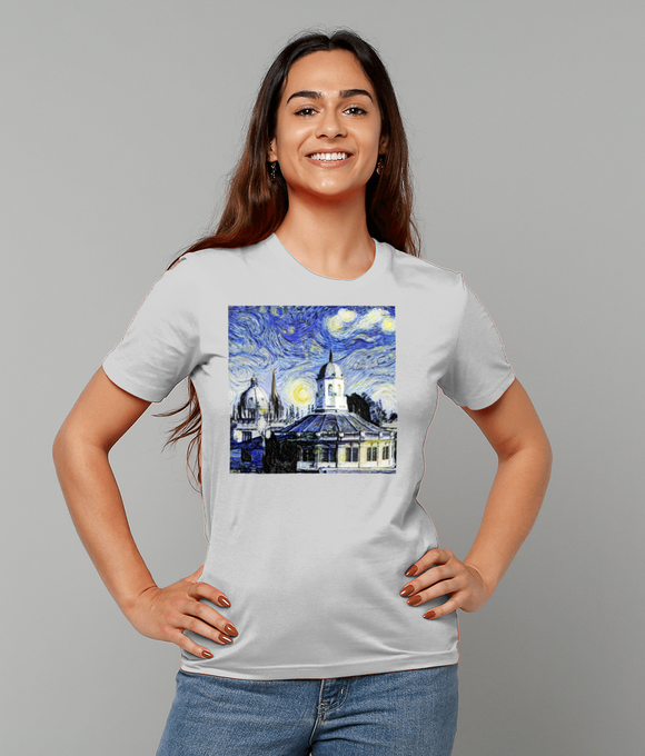 Oxford University Spires Women's Organic cotton grey t-shirt with art design