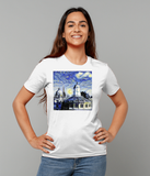 Oxford University Spires Women's Organic cotton white t-shirt with art design