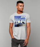 Oxford University Spires Men's Organic cotton grey t-shirt with art design