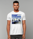 Oxford University Spires Men's Organic cotton white t-shirt with art design