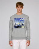 Sheldonian Spires of Oxford University men's grey organic cotton sweatshirt with art design