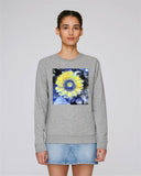 Van-Gogh sunflower organic cotton grey sweatshirt