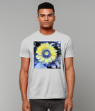Van Gogh Sunflower men's grey organic cotton  t-shirt