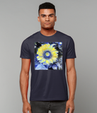 Van Gogh Sunflower men's navy organic cotton  t-shirt