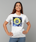 Van Gogh Sunflower ladies white organic cotton  t-shirt