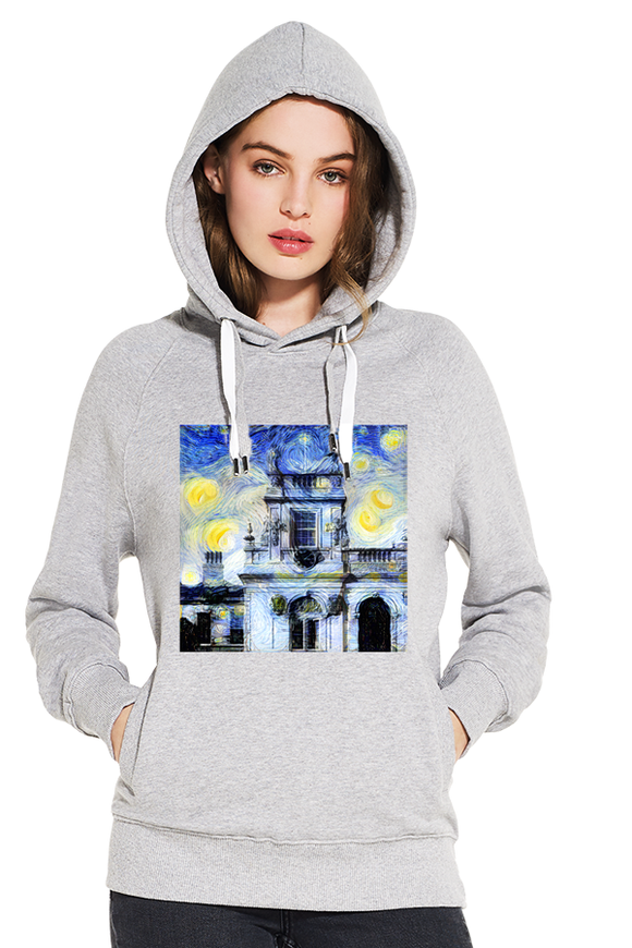 Trinity College Oxford University women's grey organic cotton hoodie