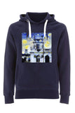 Trinity College Oxford University unisex navy organic cotton hoodie