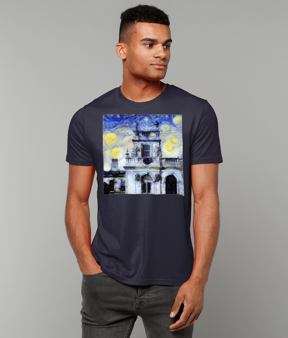 Trinity College Oxford University Mens Navy organic cotton t-shirt