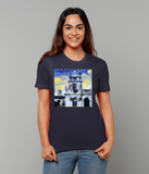 Trinity College Oxford University Ladies navy organic cotton t-shirt
