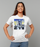 Trinity College Oxford University Ladies organic cotton white t-shirt