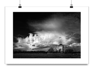 B&W Art Print Trow Pool Water Tower Oxfordshire