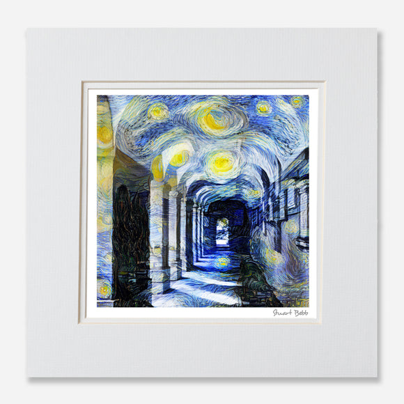 Modern art print Corpus Christ College Oxford