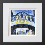Framed modern art print Oxford bridge of Sighs