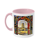Oxford university pink mug Christ Church college Oxford