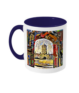 Oxford college gift Christ Church College Oxford Mug blue