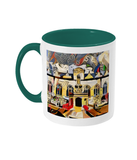 Oriel college Oxford mug green
