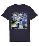Christ Church College Oxford University unisex navy organic cotton t-shirt with art design