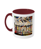 Humanities Oxford College Mug with burgundy handle