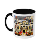 Oriel college Oxford mug black