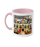 Oriel college Oxford mug pink
