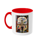 Queens College Oxford Mug with red handle