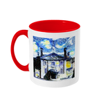 Lady Margaret Hall LMH College Oxford Alumni mug with red handle