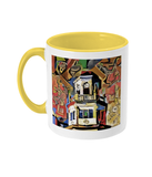 Harris Manchester College Oxford mug yellow