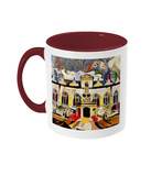 Oriel college Oxford mug burgundy