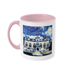 Oriel College Oxford Alumni mug with pink handle