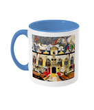 Oriel college Oxford mug light blue