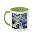 Christ Church College Oxford Alumni Mug with light green handle