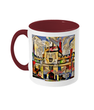 Jesus College Oxford university Coffee Mug Burgundy