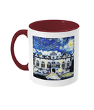 Oriel College Oxford Alumni mug with burgundy handle