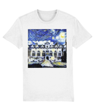 Oriel College Oxford University unisex white organic cotton t-shirt with art design