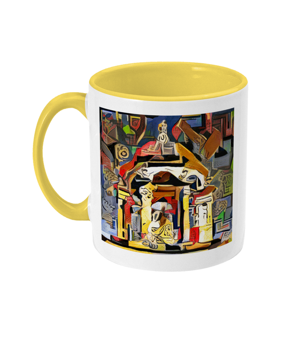 Queens college Oxford mug yellow