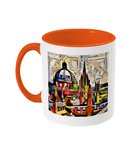 Oxford Spires mug with orange handle