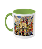 Jesus College Oxford university Coffee Mug light green
