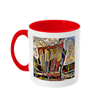 Physics Oxford College Mug with red handle